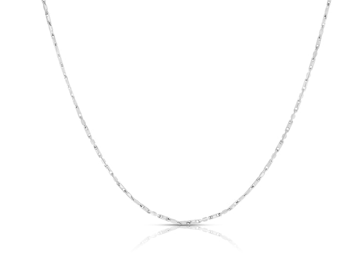 1MM Sterling Silver Heshe Chain