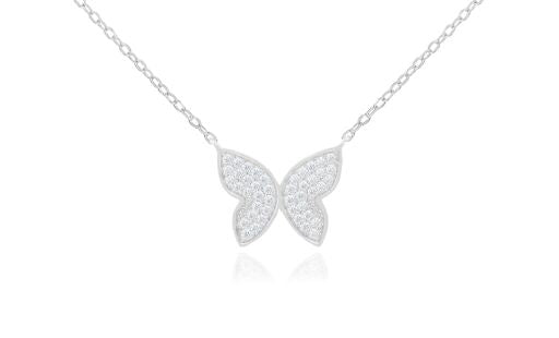 Medium CZ Butterfly Necklace