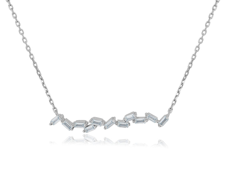 Wavy Baguette Bar Necklace