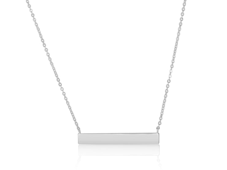Sterling Silver Stunning Solid Bar Necklace