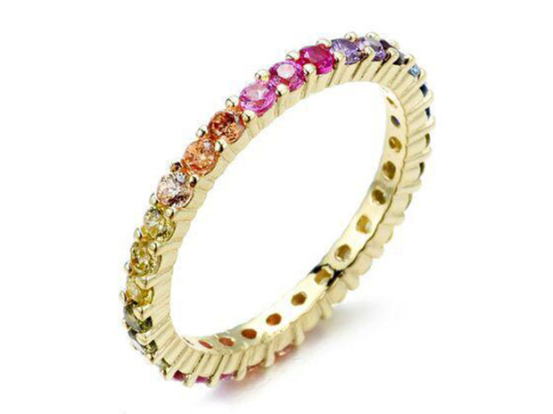 2 CTTW Rainbow Eternity Band