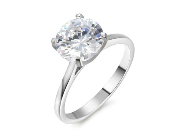 5 CTTW Cubic Zirconia Solitaire Engagement Ring