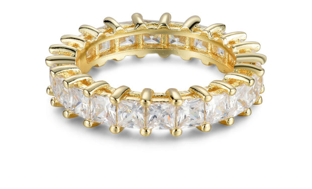 Sterling Silver Princess Cut Eternity Band