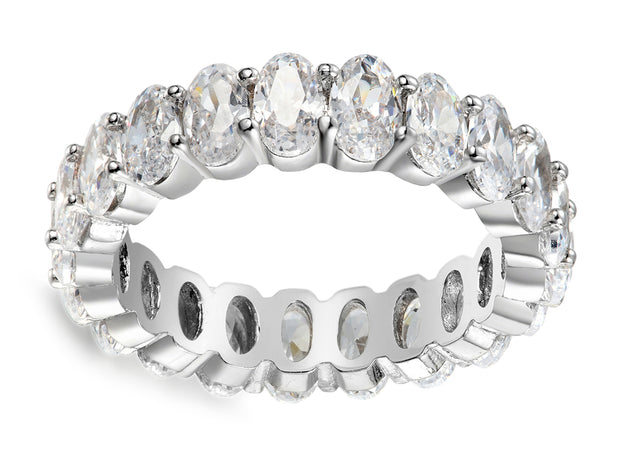 Luxe Oval Eternity Band