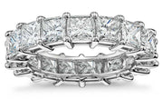 6 CTTW Princess Cut Cubic Zirconia Eternity Bands