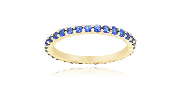 14K Gold Plated Thin Colored Eternity Bands