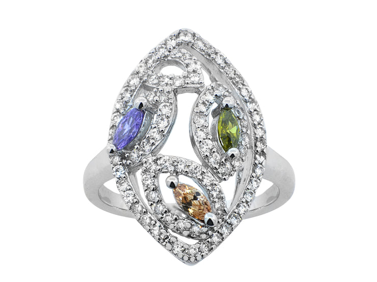 Marquise Tri-Color Ring