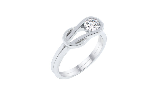 Cubic Zirconia Love Knot Ring