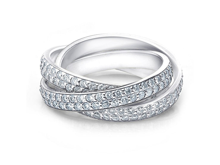 Crystal Rolling Eternity Ring