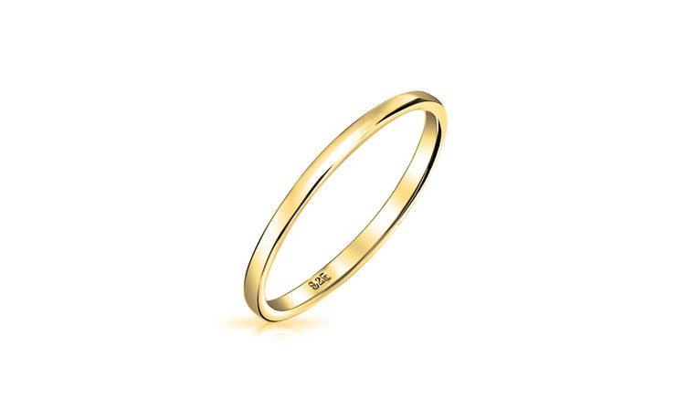 2MM Unisex Comfort Fit Wedding Band Ring
