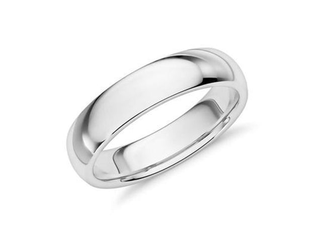 5MM Unisex Comfort Fit Wedding Band Ring