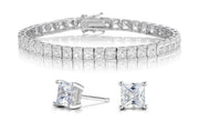Princess Tennis Bracelet & Earrings Set