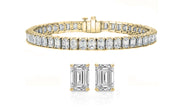 Luxury Emerald Cut Tennis Bracelet and Earrings Set (2 PACK)
