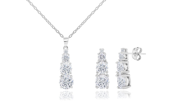 Forever Love Pendant and Drop Earrings Set With Swarosvki Elements