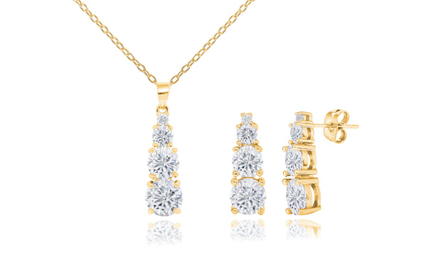 Graduated Necklace & Earring Set