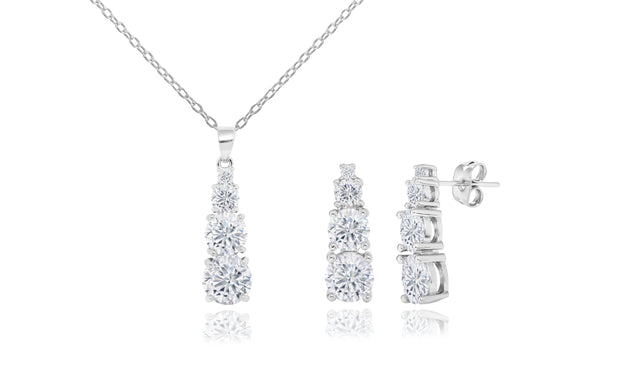 Graduated Drop Necklace & Earring Set