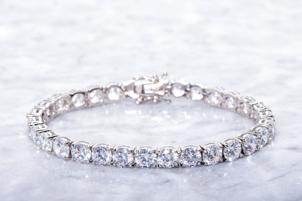 Classic Cubic Zirconia Tennis Bracelets in Sterling Silver