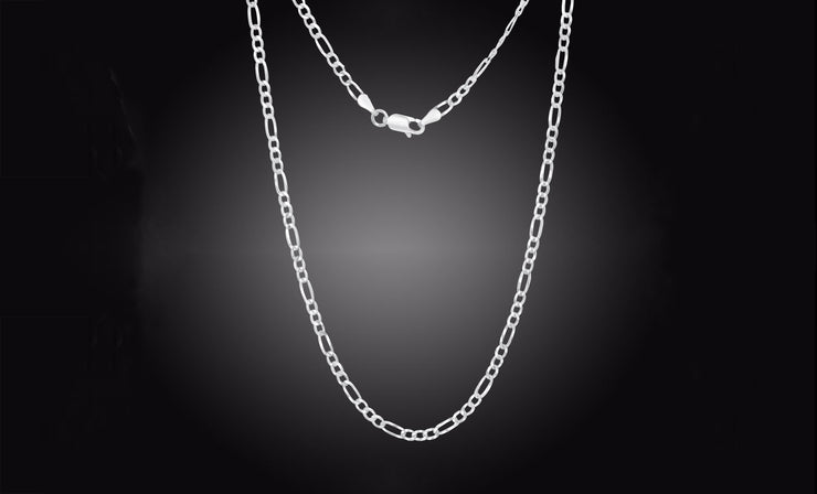 .925 Sterling Silver Unisex 3MM Chains In 18 Inches