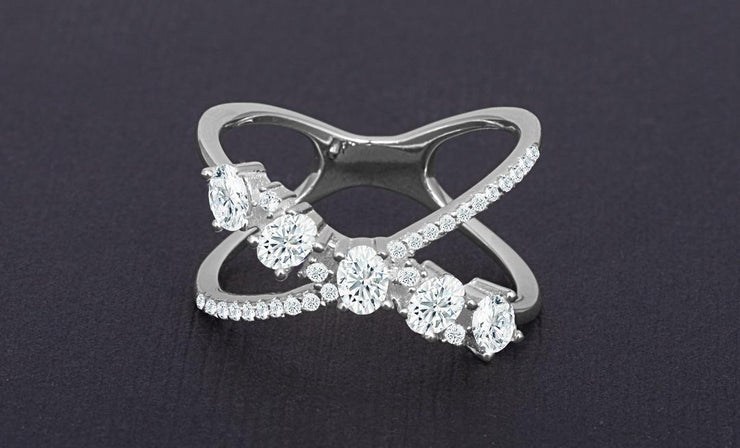 Oval Design Mini X Ring