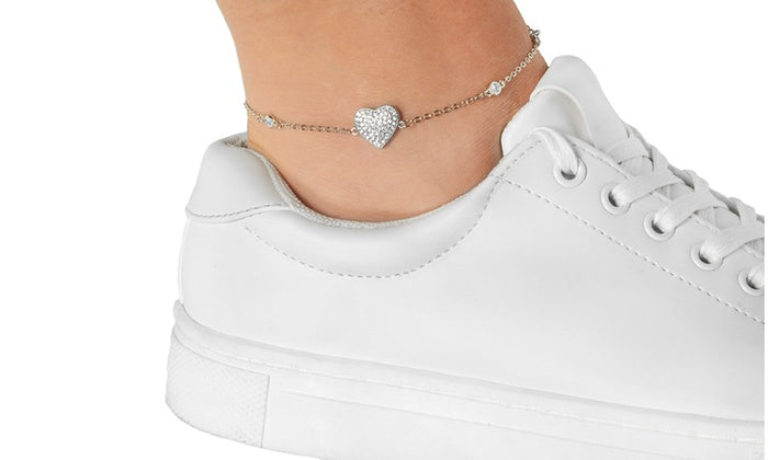 Crystal Station Ankle Bracelets
