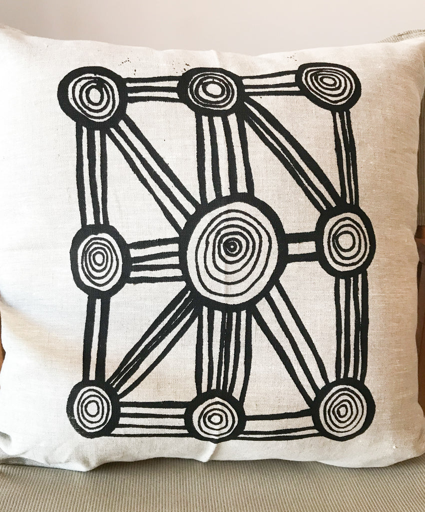 Linen Cushion- Sharlene Chuguna: Waterholes