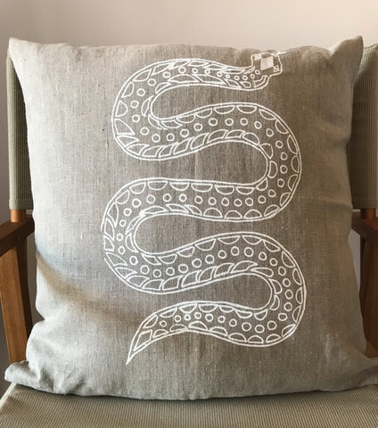 Linen Cushion- Nina Malay: Snake