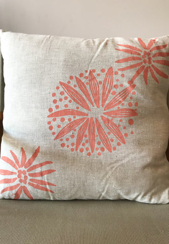 Linen Cushion - Lena Andrews: Conkerberry