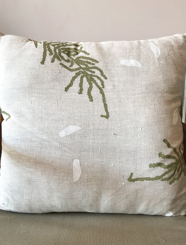 Linen Cushion- June Smith: Wooly Bush