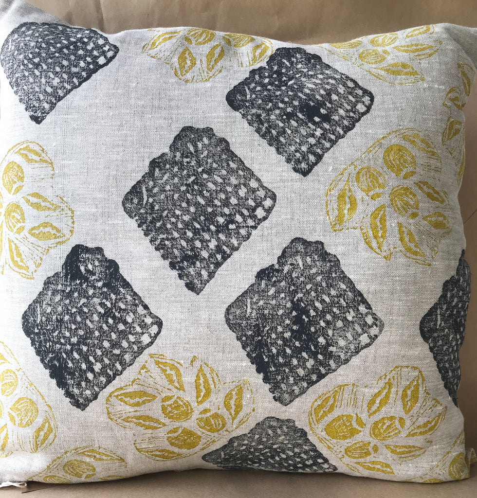 Linen Cushion - April Jones: Gum Nuts