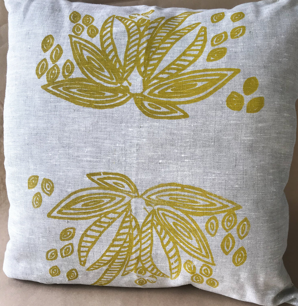 Linen cushion- June Smith: Tree Seeds