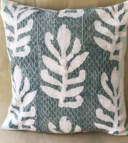 Linen Cushion - April Jones: Gum Leaves