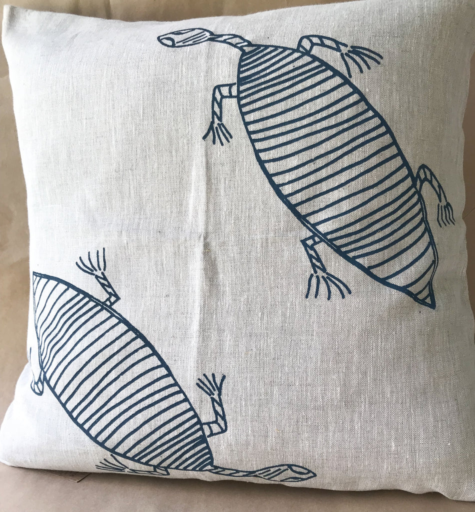 Linen Cushion- Deb Yadda: Turtle