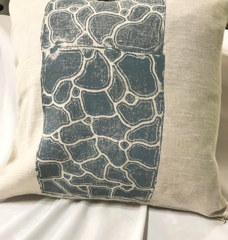 Linen cushion-Lee-anne Williams: Dry Ground