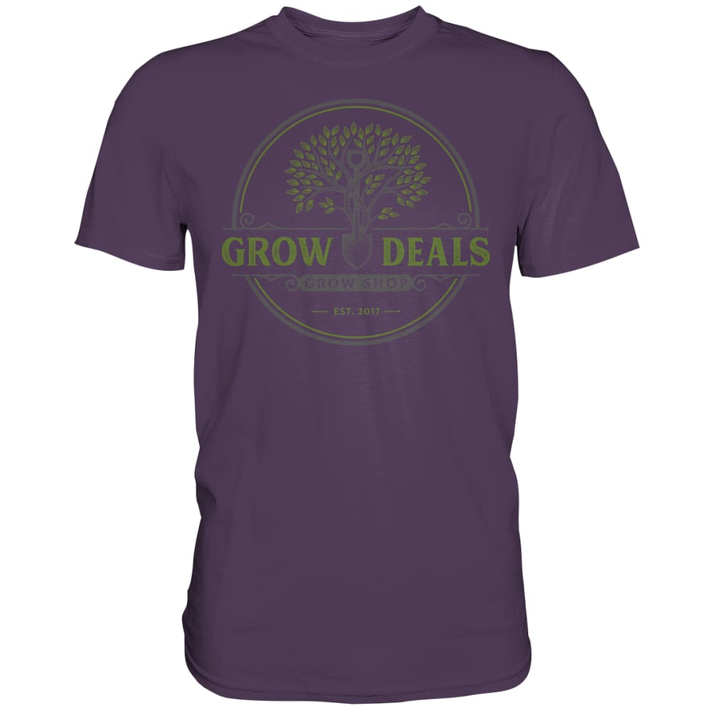 Grow-Deals (großes Logo) - Premium Shirt Urban Purple / S Unisex-Shirts