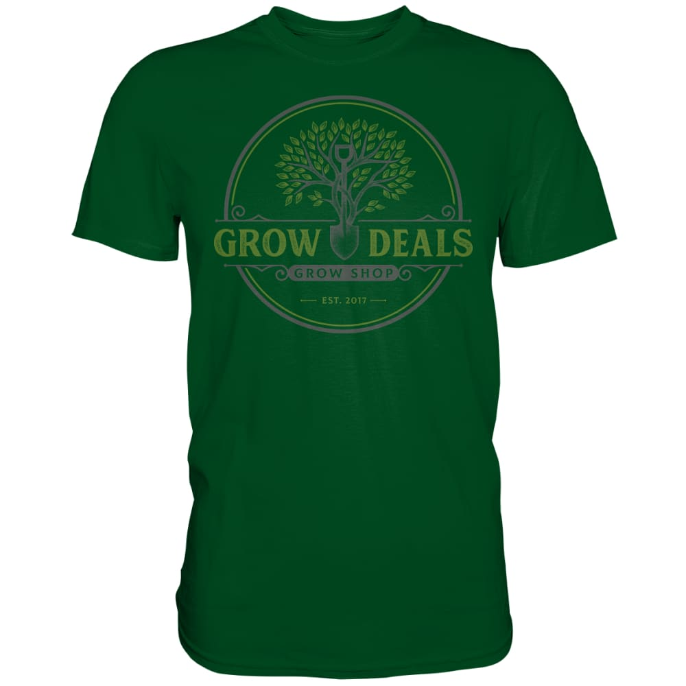 Grow-Deals (großes Logo) - Premium Shirt Bottle Green / S Unisex-Shirts