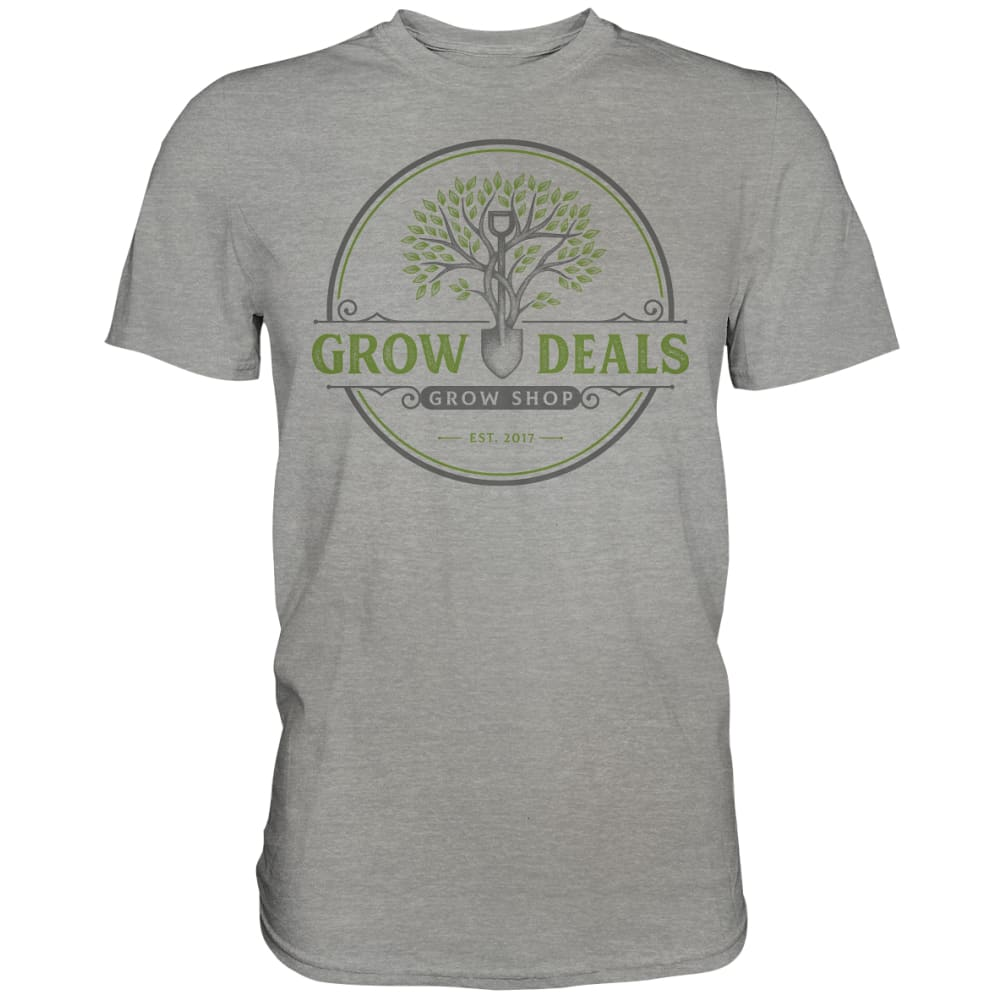 Grow-Deals (großes Logo) - Premium Shirt Sports Grey (meliert) / S Unisex-Shirts
