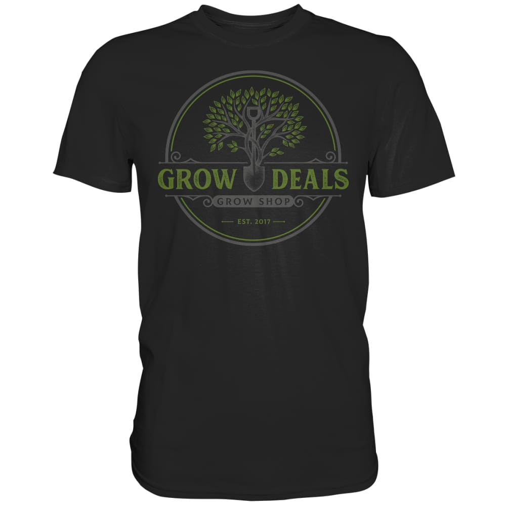 Grow-Deals (großes Logo) - Premium Shirt Black / S Unisex-Shirts