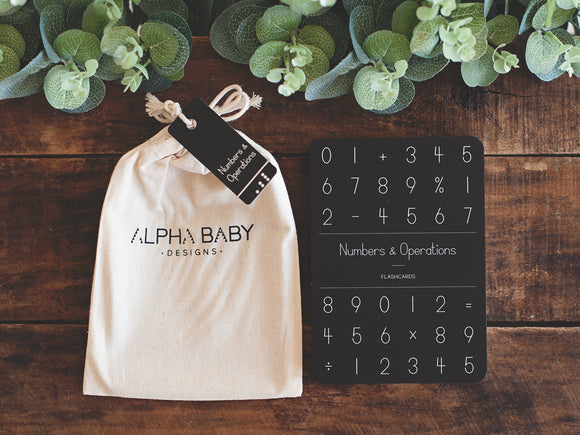 Alpha Baby Designs | Numbers & Operations Flash Cards