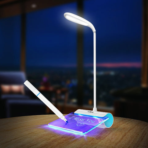 Rechargeable Desk LED Lamp with Message Board