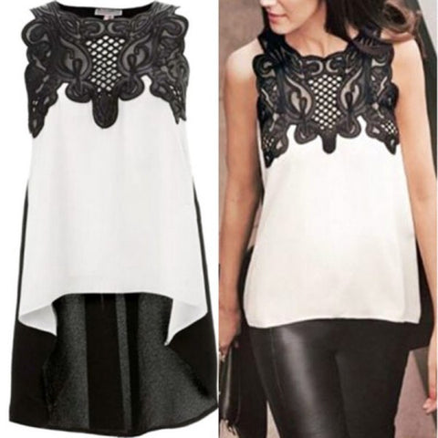 Cotton Sleeveless Chiffon Blouses Tops