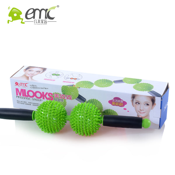 Double Roller Ball Therapy Massager Stick