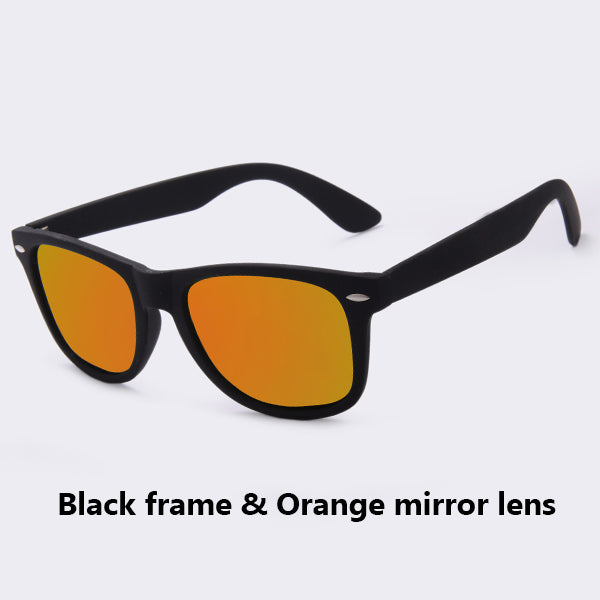 Men Fashion Sunglasses Polarized Coating Points Black Frame