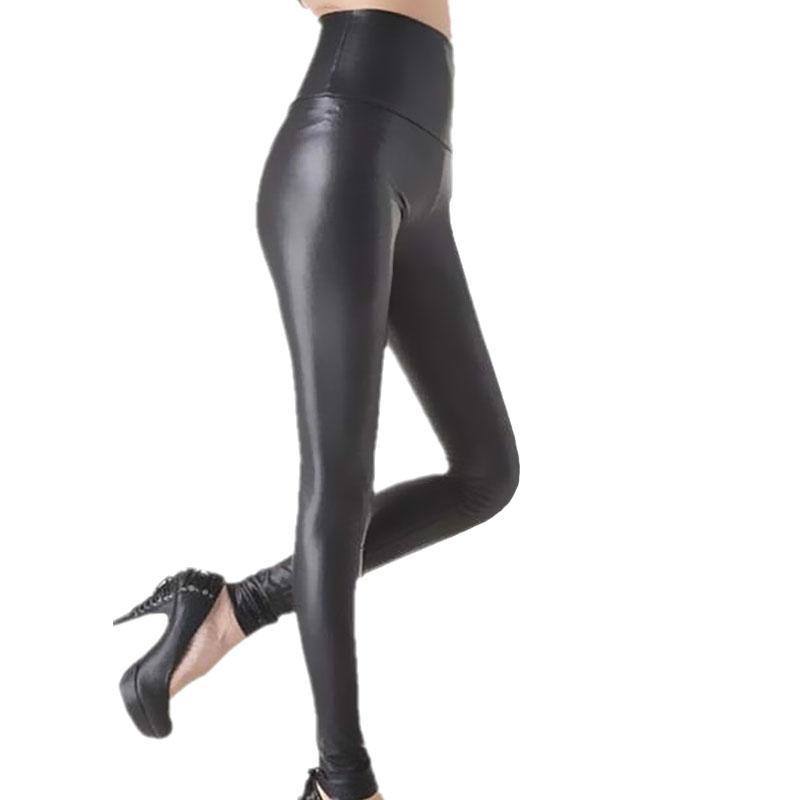 High Waisted Legging outfits Faux Leather