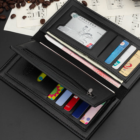 Men's Long PU Leather Slim Soft Wallet