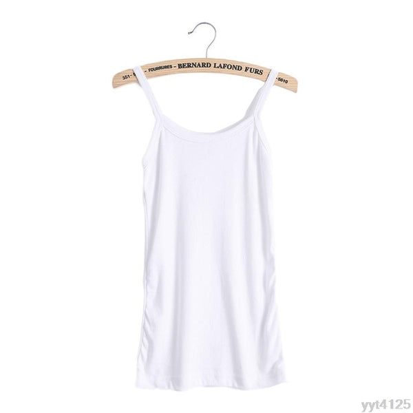 Open Back Vest Camisole Top U-Neck