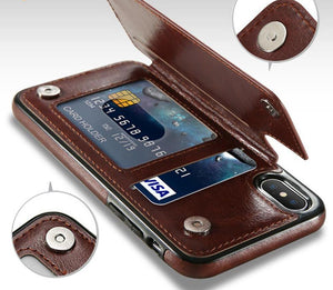 Leather Wallet Card Flip Case Cover