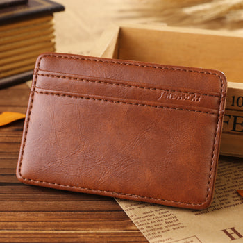 High Quality PU Leather Mini Card Holder Wallets
