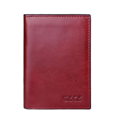 Leather Passport Wallet Womens