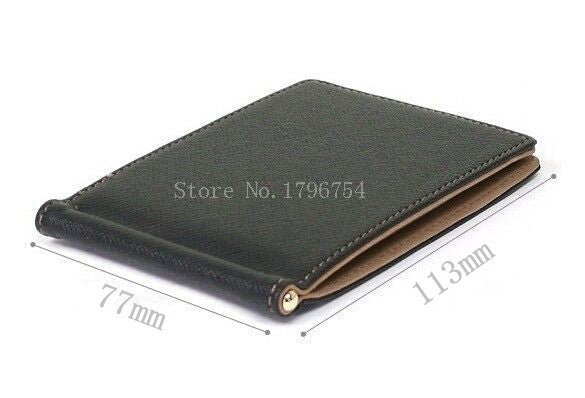 Men Short Skin PU Leather Money Clips