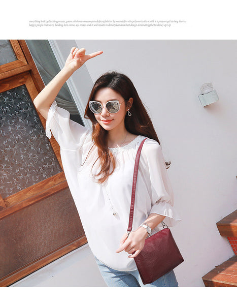 Luxury women Handbag 2Pcs Composite Bags Set